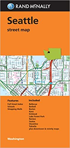 Folded Map: Seattle Street Map: Rand McNally: 9780528007873 ... on south seattle map, seattle jazz, seattle area map with cities and towns, seattle coffee, seattle washington, seattle usa map, seattle orca, seattle state map, washington map, seattle airport map, las vegas map, downtown seattle map, seattle streets, seattle parking, seattle overview, seattle rain, seattle center map, i-90 seattle map, columbia city seattle map,