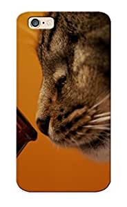 Freshmilk HQMeV0jhGaM Case Cover Skin For Iphone 6 (beers Cats Animals Tigers Alcohol Drinks Pets )/ Nice Case With Appearance