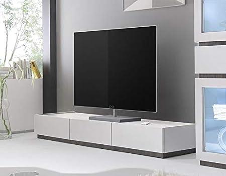 Kasalinea - Banco de TV (3 cajones, 3 cajones), Color Gris o Blanco, Blanc - Blanc, L 184 x P 51 X H 20 cm: Amazon.es: Hogar