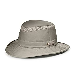 4f32a63b768 Tilley T5MO Organic Cotton AIRFLO Hat-Khaki With Olive Underbrim-7 by Tilley   Amazon.co.uk  Sports   Outdoors