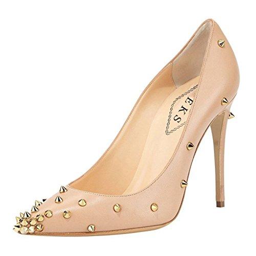 EKS - Zapatos de Tacón Mujer - Nackt-matte-10cm