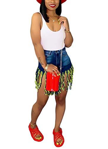 ThusFar Womens Summer Frayed Raw Push Up 5 Pockets High Waist Skinny Stretch Fitted Body Enhancing Denim Shorts Jeans