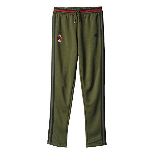 adidas Youth AO0367 AC Milan Football Soccer Training Pant (Night Cargo/Black/Victory Red, XLTG) (Adidas Calcio)