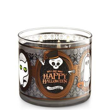 (Bath & Body Works Happy Halloween 2017 Sweet Cinnamon Pumpkin Candle 3 Wick 14.5)