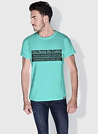 Creo You Read My T Shirt Funny T-Shirts For Men - M, Green