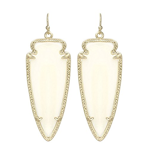 re Gold Plated and Ivory Mother-Of-Pearl Skylar Drop Earrings ()