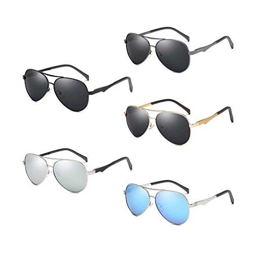 de de Sol de piloto Providethebest Gafas Protección Las Conducción Vendimia la Coolsir de 4 Sol de Gafas Solar polarizada Lente Gafas Lentes Bloqueador UV qPxwYxFn