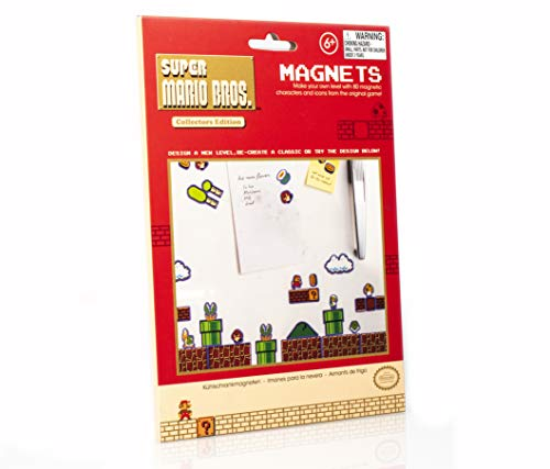 Paladone Super Mario Bros. Fridge Magnets - Features 80 Magnetic Characters and Icons]()