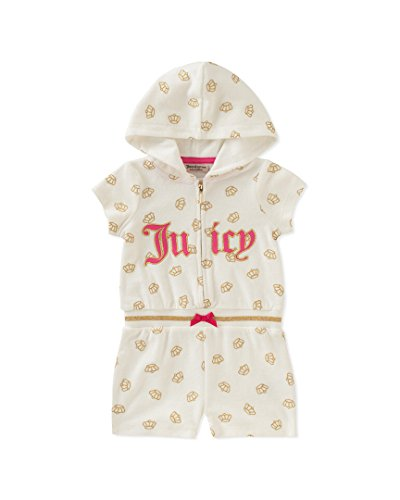 - Juicy Couture Little Girls Hooded Romper (5, Vanilla)
