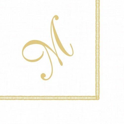 Entertaining with Caspari Monogram Initial M Paper Cocktail Napkins, Pack of 20 ()