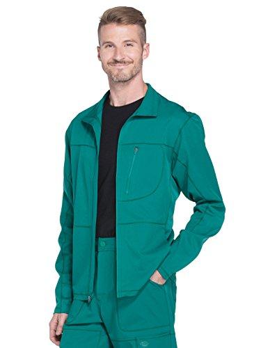Dickies Dynamix' Men's Zip Front Warm-up Jacket' Scrub Jacket Hunter Green Small