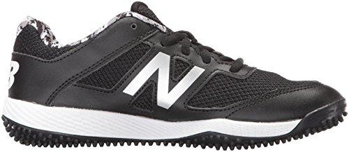 New Balance Boys' TY4040 Turf Baseball Shoe, Black/White, 6 M US Big Kid by New Balance (Image #7)