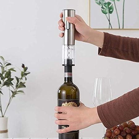 Sacacorchos eléctrico automático abridor de botellas de vino con cargador USB cortador de hoja de vino eléctrico abridor de botellas de vino plateado