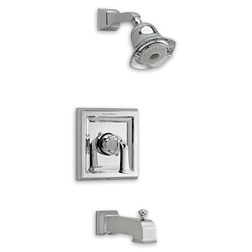 American Standard T555.528.295 Town Square Bath and Shower Trim Kit with 3-Function Flowise Showerhead, Satin Nickel