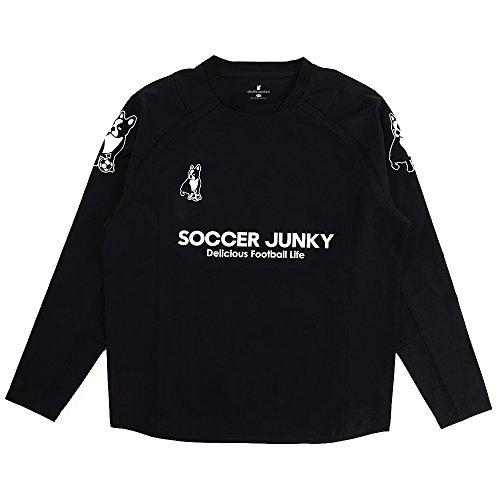 困難美容師からに変化するclaudio pandiani(クラウディオ?パンディアーニ) Soccer Junky gracias de corazon+3 ハイテンションクロス SJ18070 ブラック L