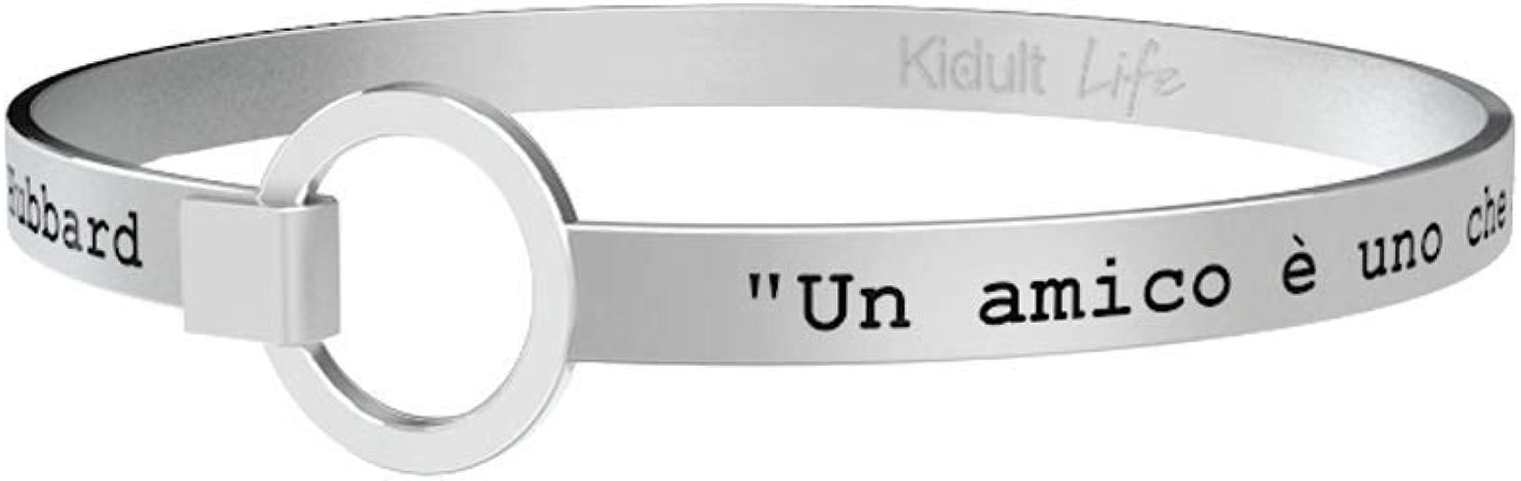 """Kidult life 731104 collection bracciale acciaio /""""crea la storia della tua vita/"""""""