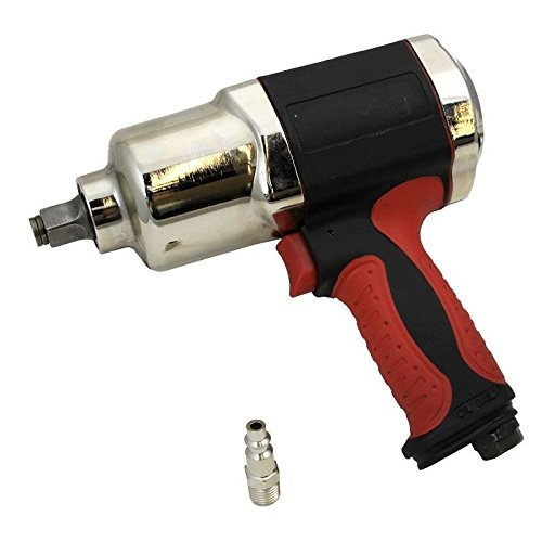 NEW 1/2'' Composite Air Impact Gun Wrench Compressor Tool Twin Hammer Light Weight HD by Jikkolumlukka
