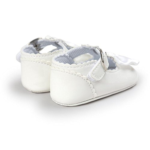 niñas Zapatos Switchali Zapatillas de deporte del niño del zapato del niño de la princesa Soft Bowknot del bebé Zapatos ocasionales Blanco