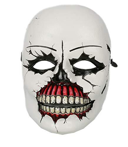 xcoser Psycho Mask Horrible Deluxe Resin Until Dawn Halloween Cosplay Masque Props]()