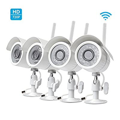 SpyGear-Zmodo 720p HD Outdoor Home Wireless Security Surveillance Video Cameras System (4 Pack) - Zmodo