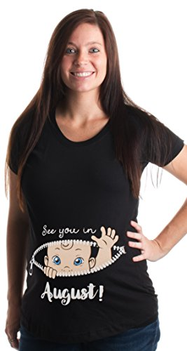 See you in August! | Cute Pregnancy Humor, New Mommy Scoop Neck Maternity Top