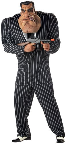 California Costumes Men's Adult-Massive Mobster, Black, L (42-44) (Mens Mafia Costume)