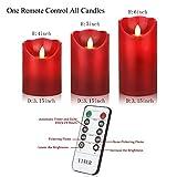 "YIWER Flameless Candle, Φ3.15 xH 4""/5""/6"" Set of 3"