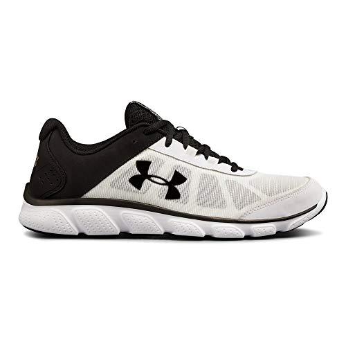 Under Armour Men's Micro G Assert 7 Running Shoe, White (103)/Black, 11