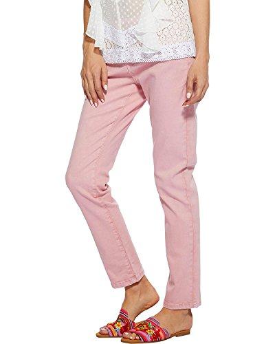 Angel Premium Women's Melania Jeans Straight Leg Pink 12