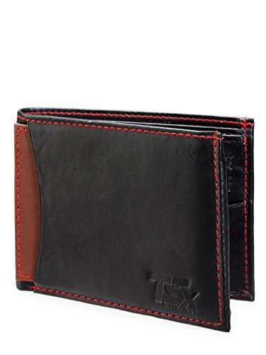 TSX Men's Black Faux Leather Wallet