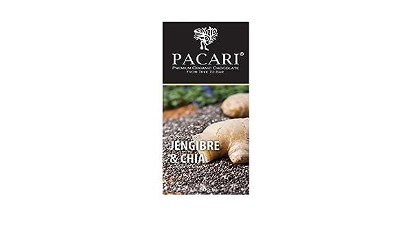 Pacari Organic Chocolate Ginger & Chia 60%: Amazon.es: Alimentación y bebidas