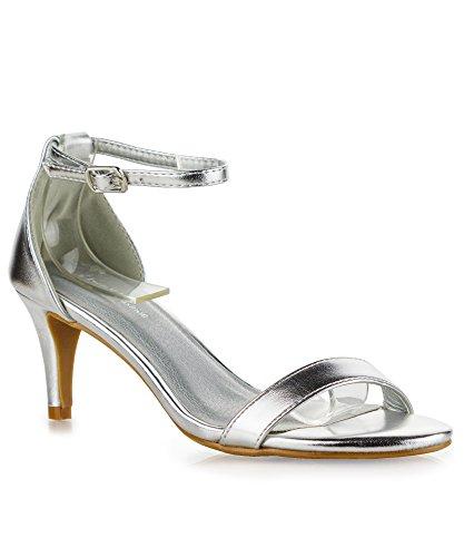 01 Silver Women Sandal - 3
