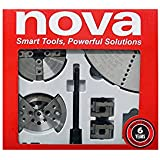 NOVA 24245 Chuck and Most Popular Jaw Accessory Bundle