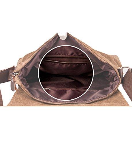 613d1739ddc Degohome Canvas Satchel Bag Shoulder Bag Crossbody Sling Bag for Men and  Women