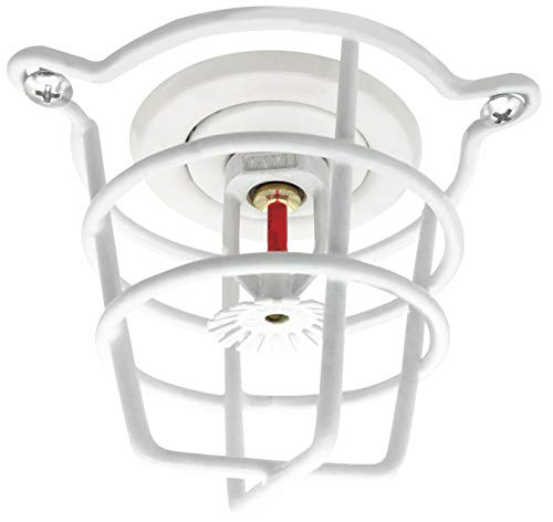 "(6 Pack) White Cage Fire Sprinkler Head Guard for Both 1/2"" & 3/4"" Fire Head for Protecting Flush Mount & Side Wall & Pendent Head"