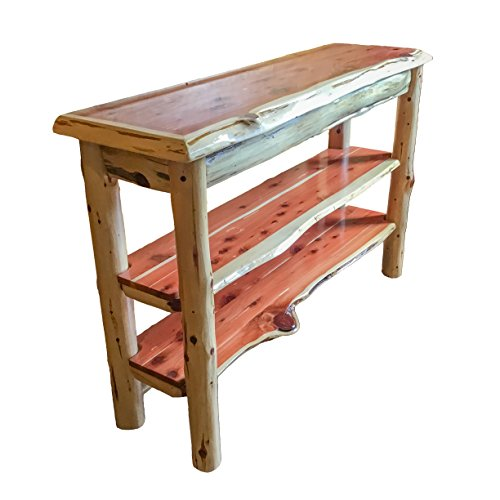 Furniture Barn USA Rustic Red Cedar Log TV Stand or Sofa Table - Amish Made in the USA