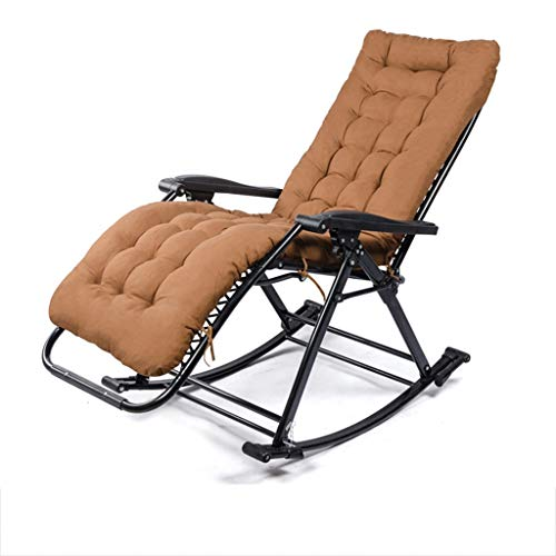 Folding Recliners Rocking Shake Folding Deck Lounge Chair Multi-Angle Adjustable Adult Garden Beach Balcony Bedroom Office Load Capacity 200 Kg (Multicolor) ()