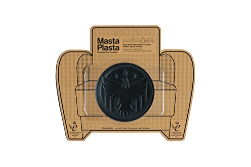 MastaPlasta Self-Adhesive Patch for Leather and Vinyl Repair, Eagle, Black - 3 Inch Diameter - Multiple Colors Available