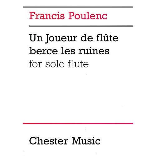 Francis Poulenc Un Joueur De Flute Berce Les Ruines For Solo Flute Music Sales America Series Pack of 3