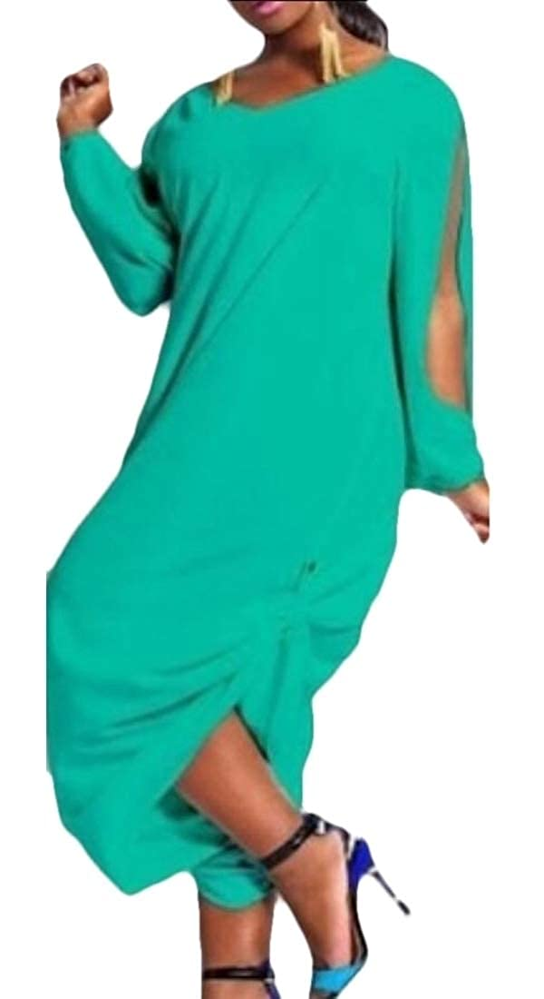 GAGA Womens Casual Solid Color Harem Loose Hollow Out Jumpsuits Rompers