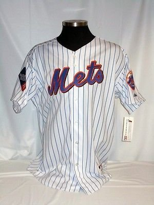 - New York Mets Authentic Majestic Pinstripe Jersey w/ 2009 Inaugural Season Patch