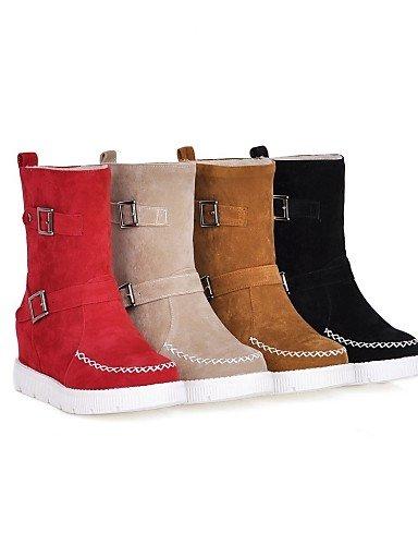 A Xzz Zapatos Punta negro Eu42 Cn43 La Nieve us5 De Yellow Vestido 5 Amarillo 5 us10 Vellón Mujer Casual 5 Uk8 Uk3 Plataforma Redonda Botas Black Moda Cn35 Eu36 Eu 5 rrwxq8dY