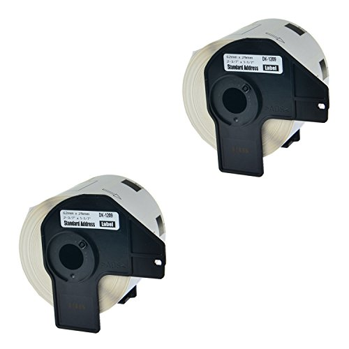 (Nineleaf Compatible Die-Cut Small Address/Barcode Labels for Brother DK-1209 DK1209 P Touch Q Touch QL-500 QL-570 Printers with Cartridge 29mm x 62mm(1-1/7