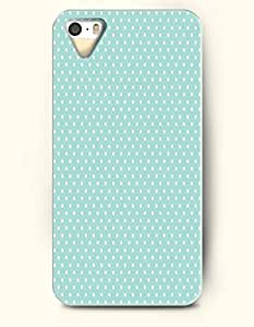 Wthie Dot In Pale Turquoise Background -- OOFIT Case for Apple iPhone 4 4S Case - Polka Dot Series