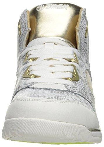 Zumba Vrouwen Energie Boom Hoge Top Dance Workout Sneakers Met Meer Comfort Support Wit / Goud