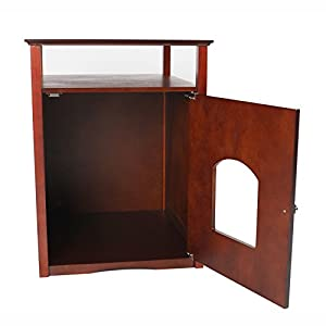 "Merry Pet Products Pet House, Litterbox Cover and Night Stand, Walnut, 20.5"" D x 19"" W x 25""H"