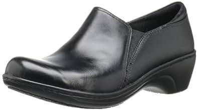 Clarks Women's Grasp Chime Slip-On Loafer, Black Leather, 5 M US