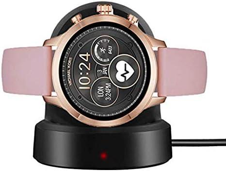 LvBu Cargador Charger para Michael Kors Runway Smartwatch (Negro ...