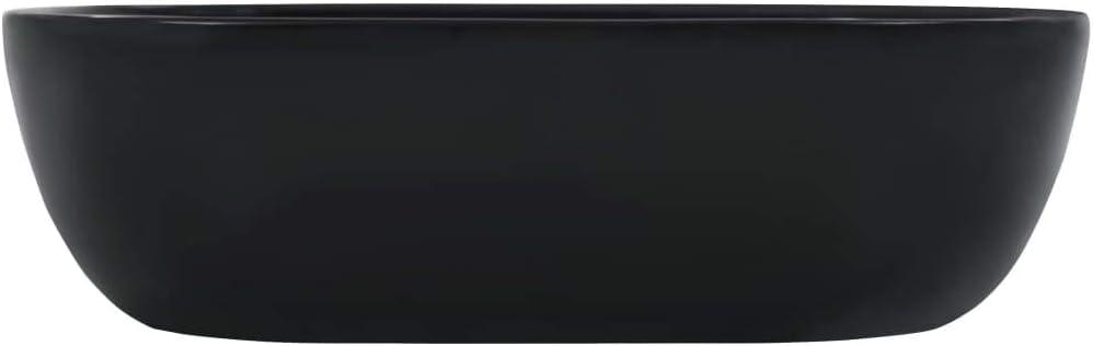 Tidyard Lavabo de ba/ño realizado en cer/ámica Negra 45,5x32x13 cm.