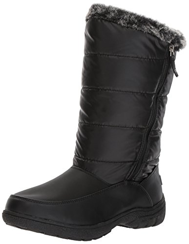 Sugar Women's Lucille Tall Shaft Faux Fur Waterproof Winter Weather Snow Boot, Black, 9 Medium US